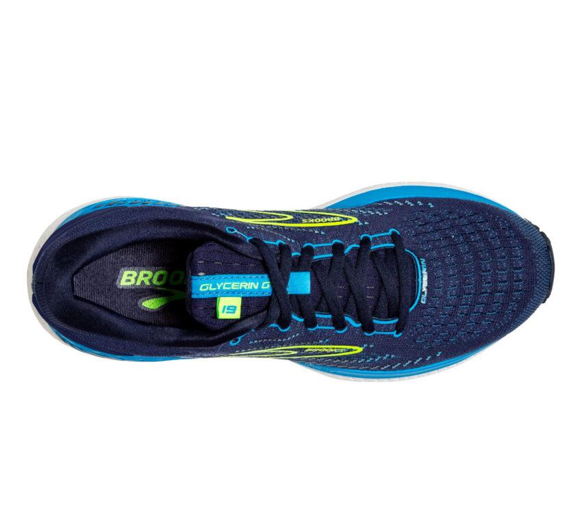 tomaia scarpa da running uomo per pronatori brooks glycern gts 19 blu