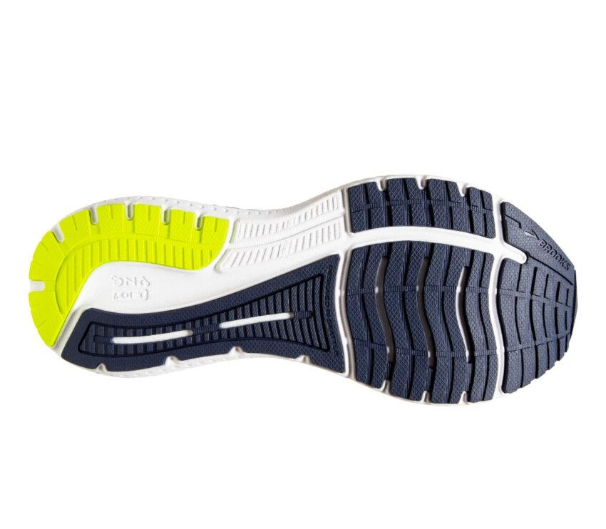 suola scarpa da running uomo per pronatori brooks glycern gts 19 blu
