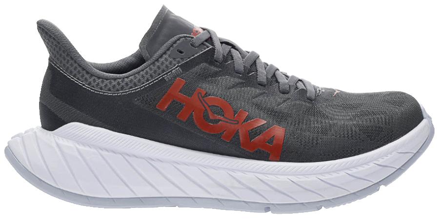 scarpa da running hoka carbon x 2 con piastra in fibra di carbonio