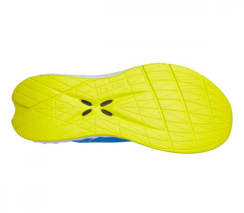 suola gialla scarpa runnning uomo hoka one one carbon x 2