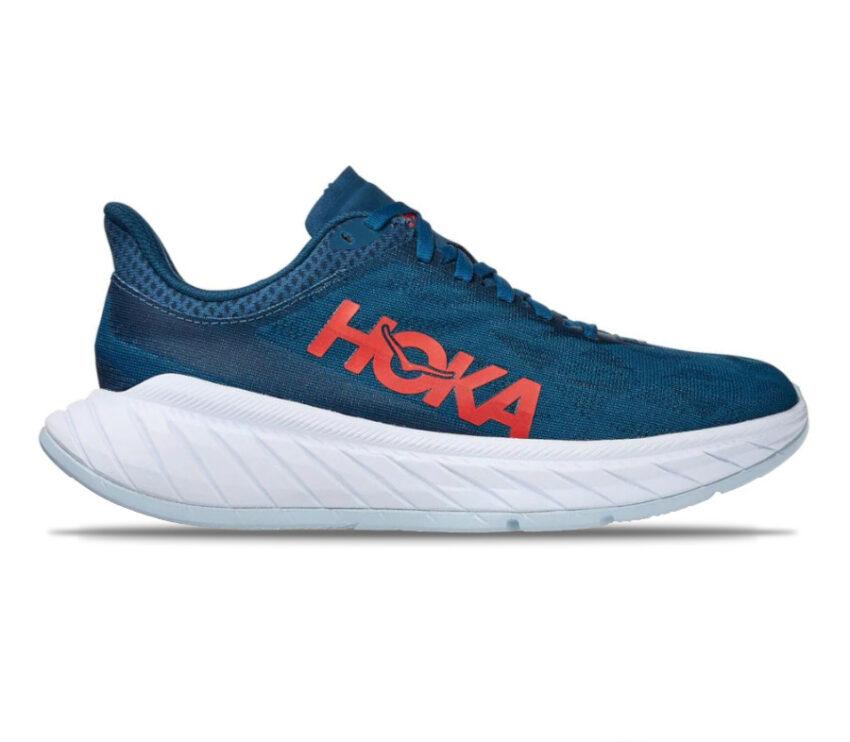 scarpa da running donna hoka one one carbon x 2 blu