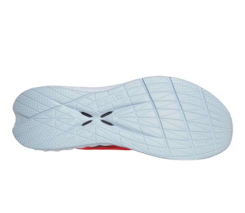 suola scarpa da running hoka one one carbon x 2 rossa