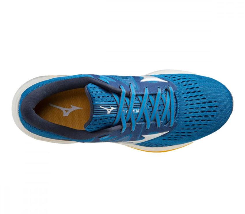scarpa running uomo mizuno wave inspire 17 blu vista dall'alto