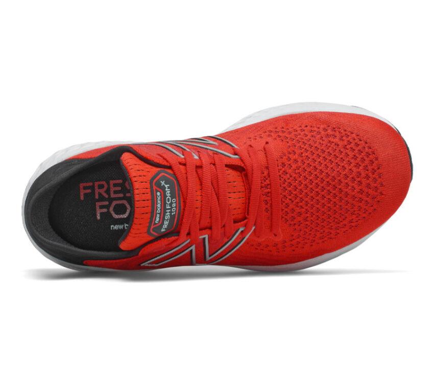 scarpa running uomo rossa new balance 1080 v11 vista dall'alto