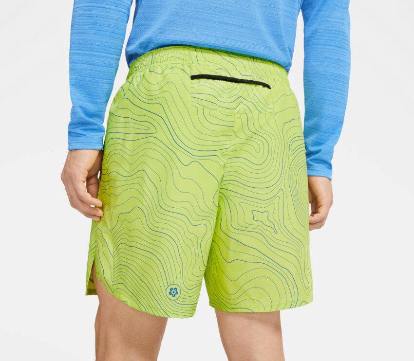 retro pantaloncino da running nike ekiden challenger uomo verde