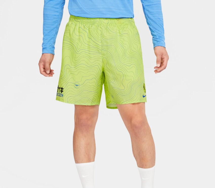 pantaloncino da running nike ekiden challenger uomo verde