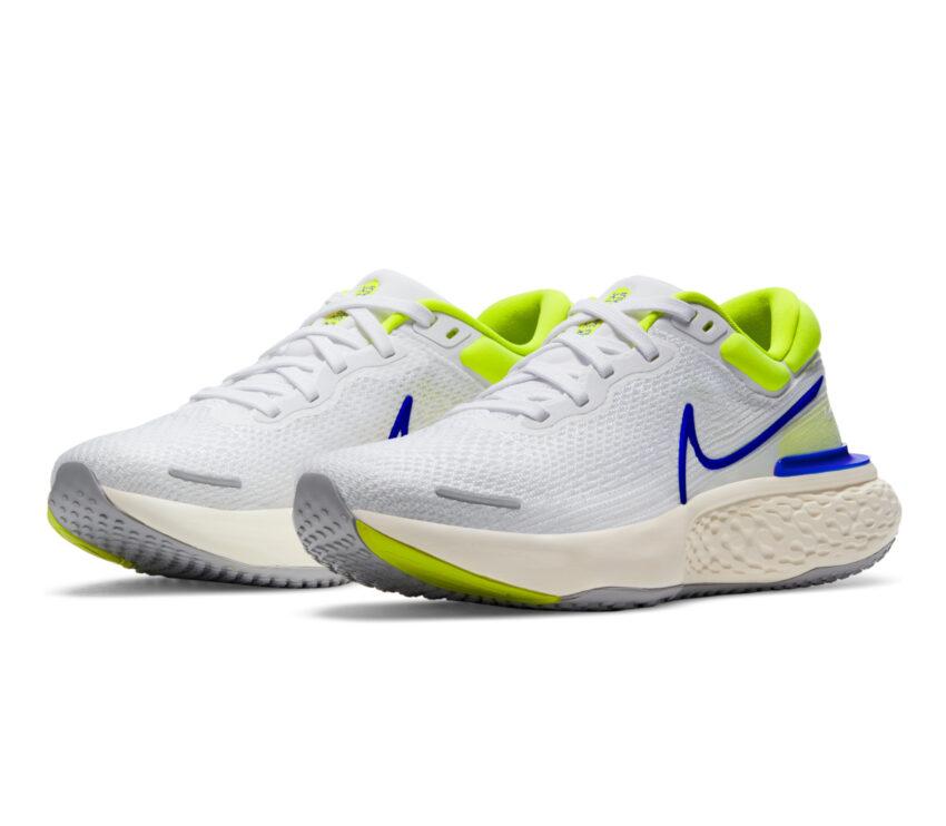 Coppia scarpa da running uomo nike invincible run fk bianca e blu