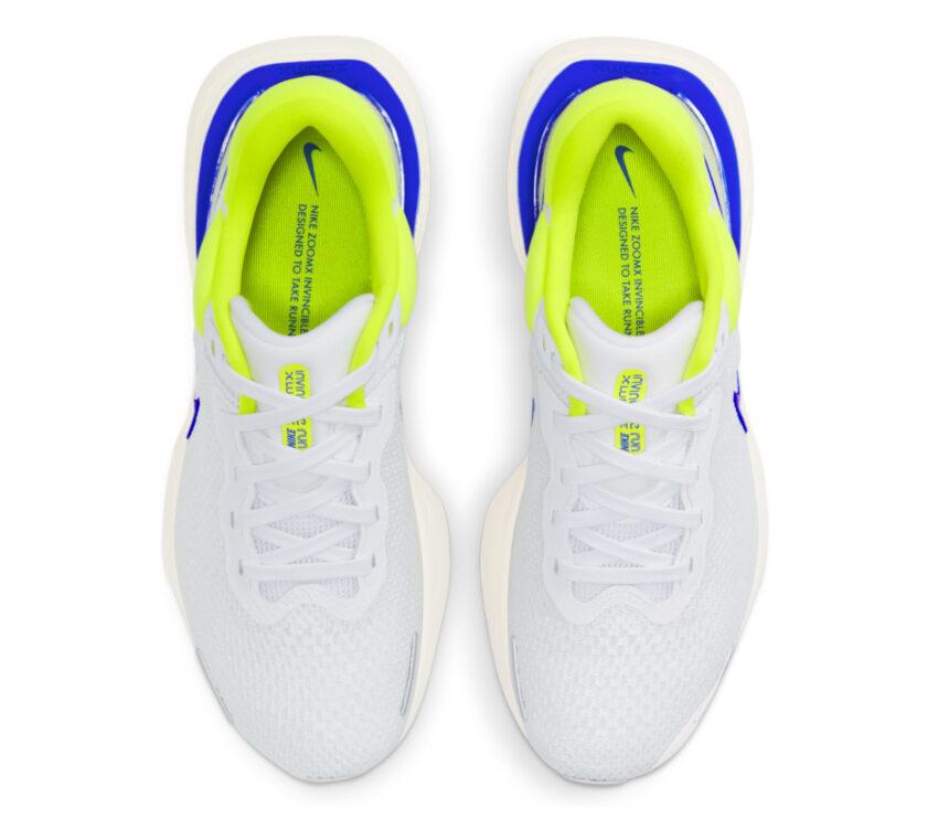 tomaia scarpa da running uomo nike invincible run fk bianca e blu