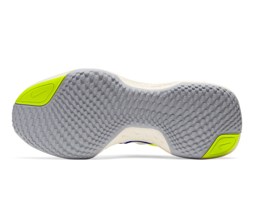 suola scarpa da running uomo nike invincible run fk bianca e blu