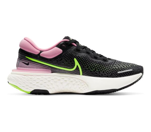 scarpa da running nike zoom x invincible per donna rosa e nera