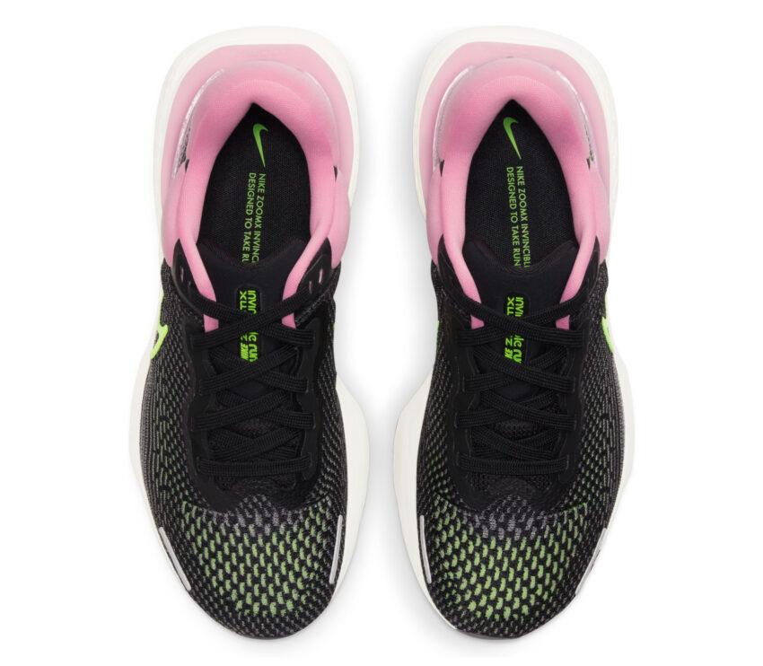 tomaia scarpa da running nike zoom x invincible per donna rosa e nera