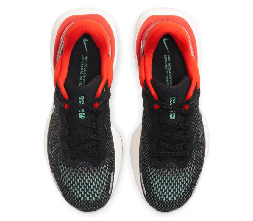 tomaia scarpa da running nike zoom x invincible per uomo rossa e nera