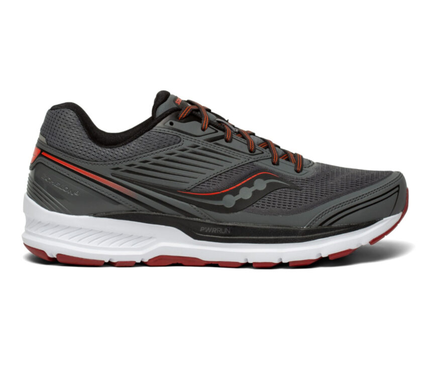 scarpa da running pronazione uomo saucony echelon 8 grigia