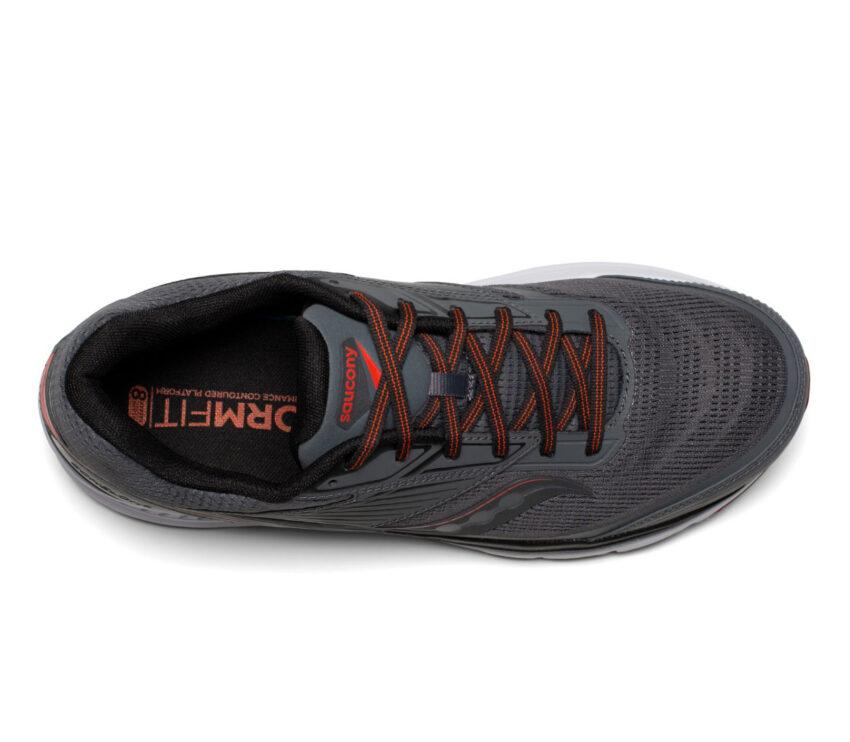 tomaia scarpa da running pronazione uomo saucony echelon 8 grigia