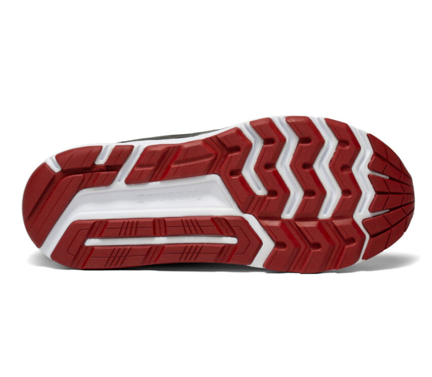 suola scarpa da running pronazione uomo saucony echelon 8 grigia