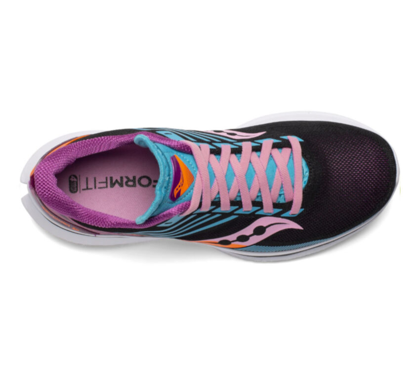scarpa running veloce donna saucony kinvara 12 vista da sopra