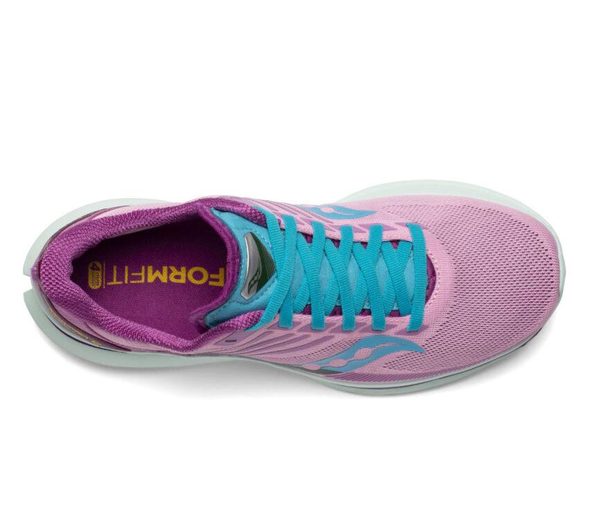 tomaia scarpe da running reattive per donna saucony kinvara 12 viola