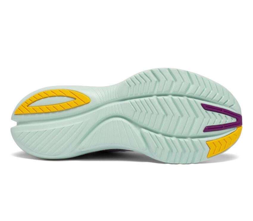 suola scarpe da running reattive per donna saucony kinvara 12 viola