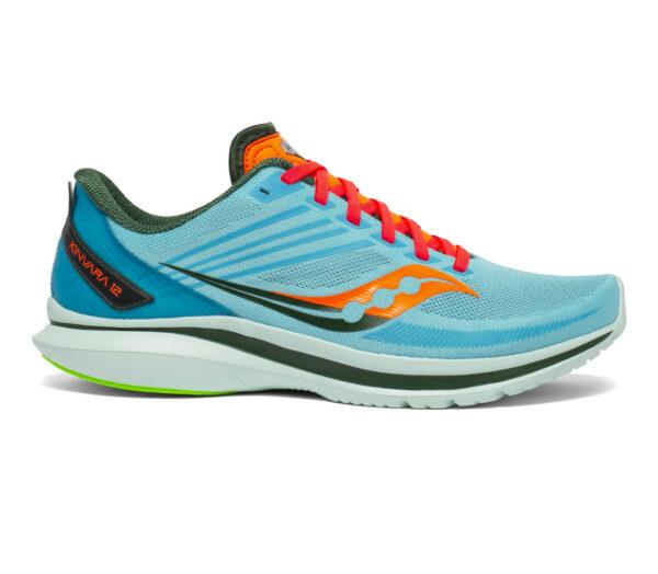 scarpa running uomo saucony kinvara 12 celeste e arancione