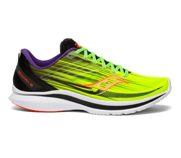 scarpe da running veloci saucony kinvara 12 uomo fluo