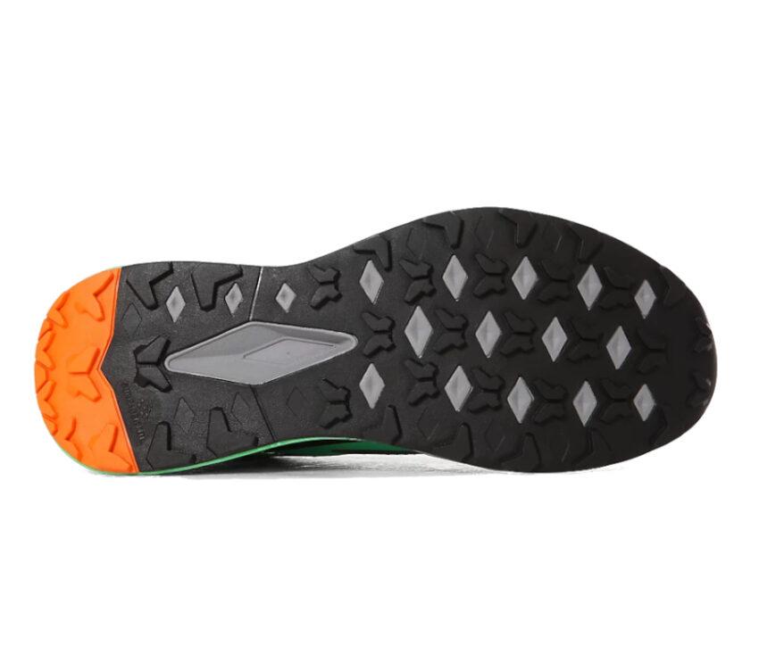 suola scarpa trail running uomo north face vective infinite verde acqua