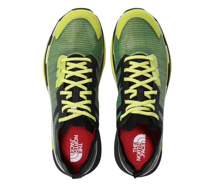 tomaia scarpa da trail running the north face vective infinite uomo giallo e nera