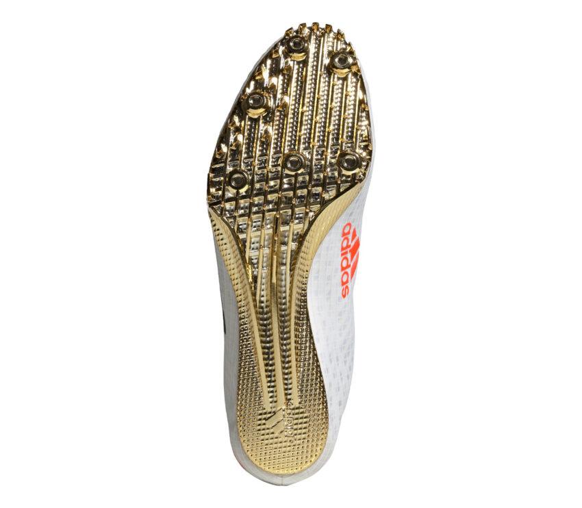 suola scarpa velocità e sprint 100 metri adidas finesse bianca