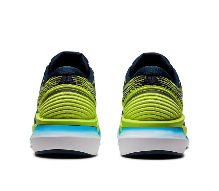 retroscarpa da running asics glideride 2 da uomo blu e verde