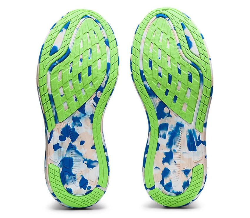 suola scarpa da running asics noosa tri 13 blu da donna