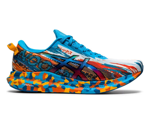scarpe da triathlon asics noosa tri 13 blu e arancioni