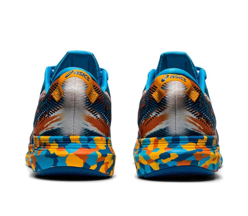retro scarpe da triathlon asics noosa tri 13 blu e arancioni