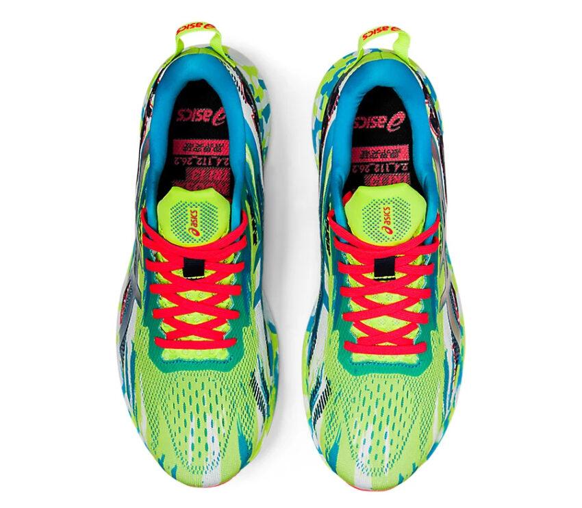 tomaia scarpa da triathlon uomo asics noosa tri 13 verde e blu
