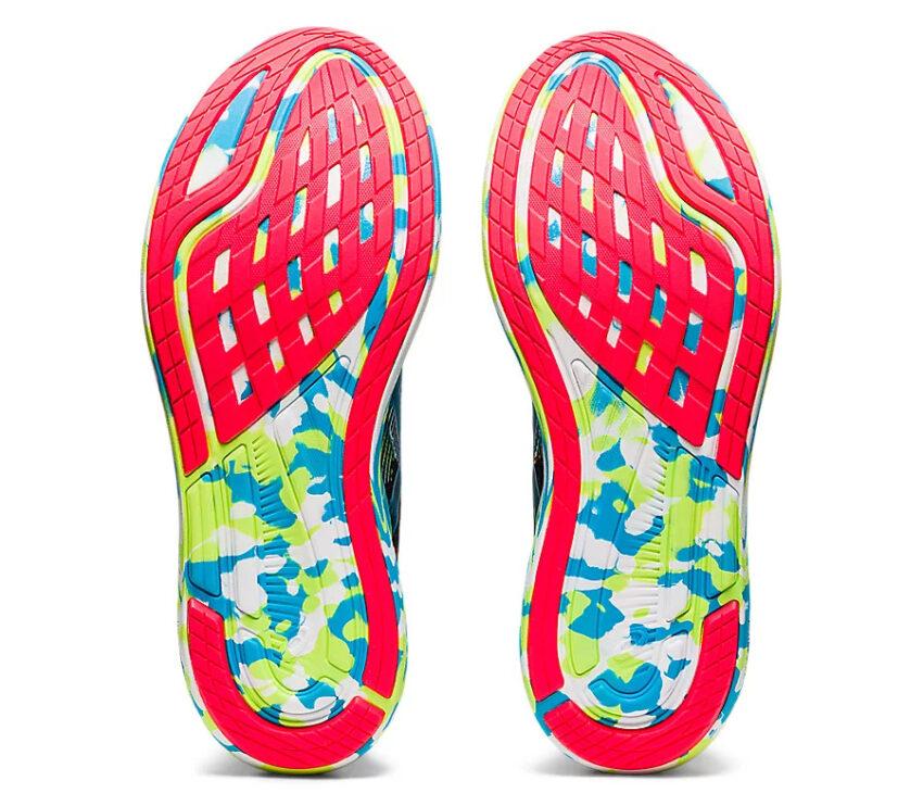 suola scarpa da triathlon uomo asics noosa tri 13 verde e blu