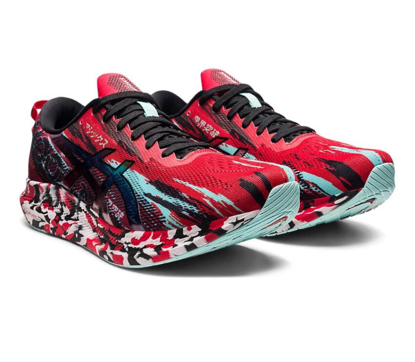 coppia scarpa da running asics noosa tri 13 rossa da uomo