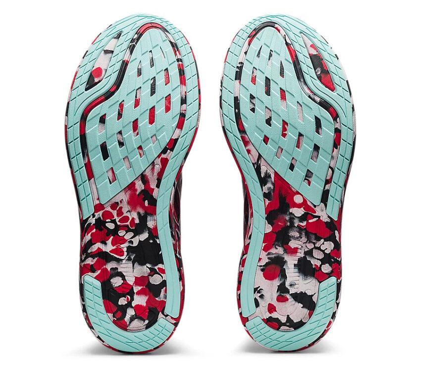 suola scarpa da running asics noosa tri 13 rossa da uomo