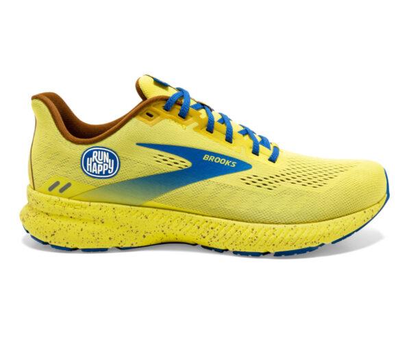 scarpa running uomo ammortizzata brooks launch 8 gialla