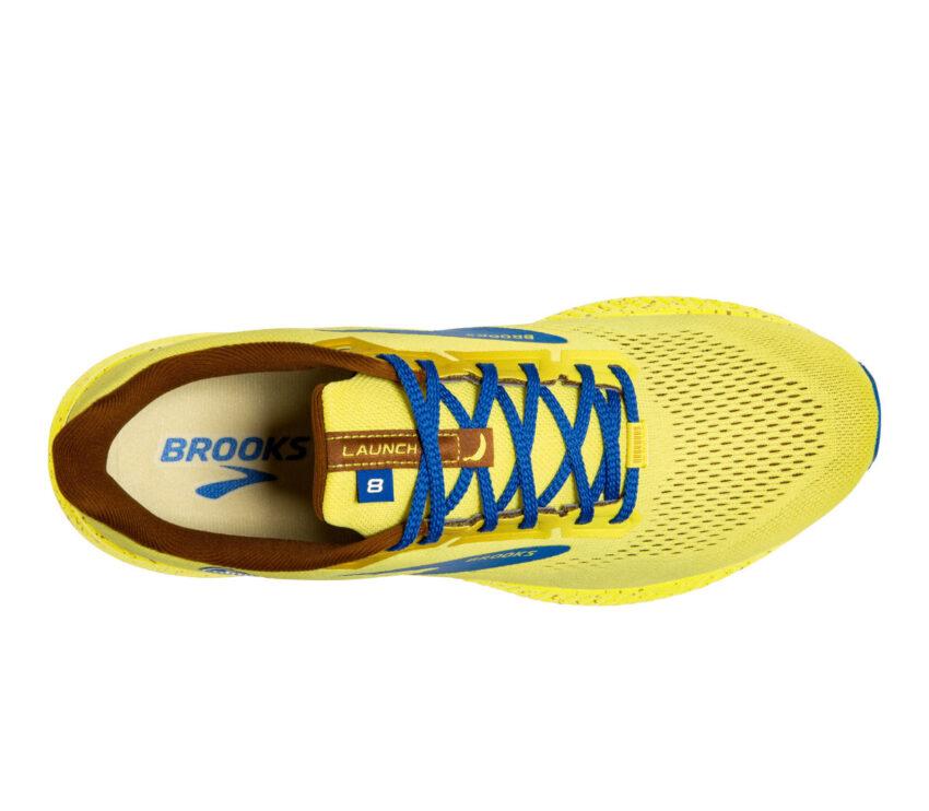 tomaia scarpa running uomo ammortizzata brooks launch 8 gialla