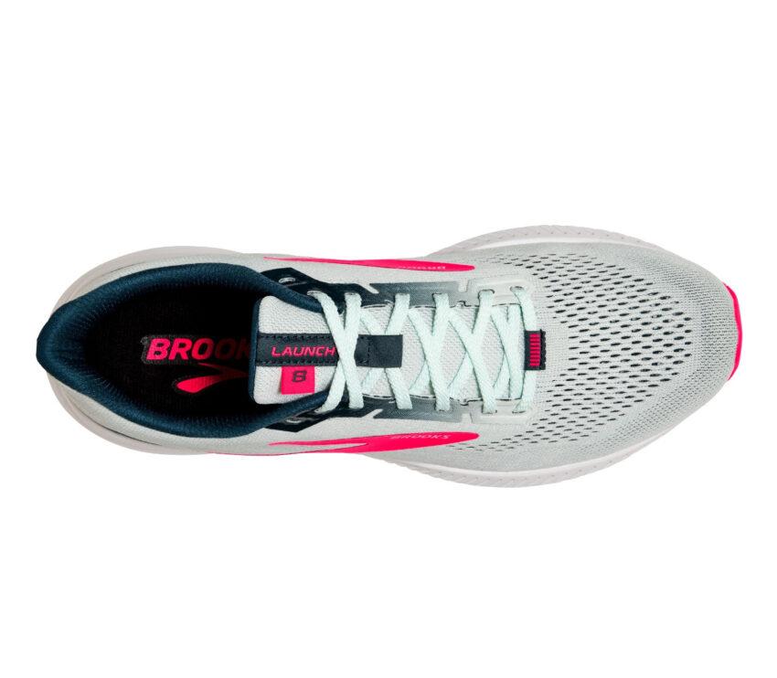 scarpa running donna leggera brooks launch 8 vista dall'alto