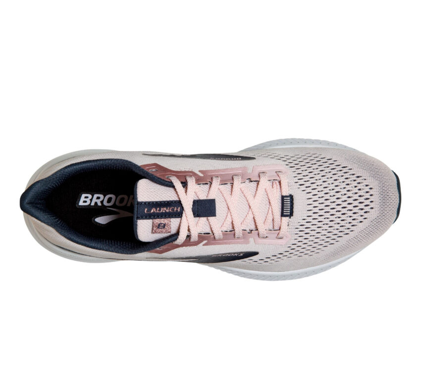 tomaia scarpa da running donna brooks launch 8 rosa