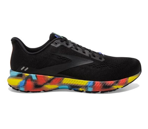 scarpa running uomo brooks launch 8 nera