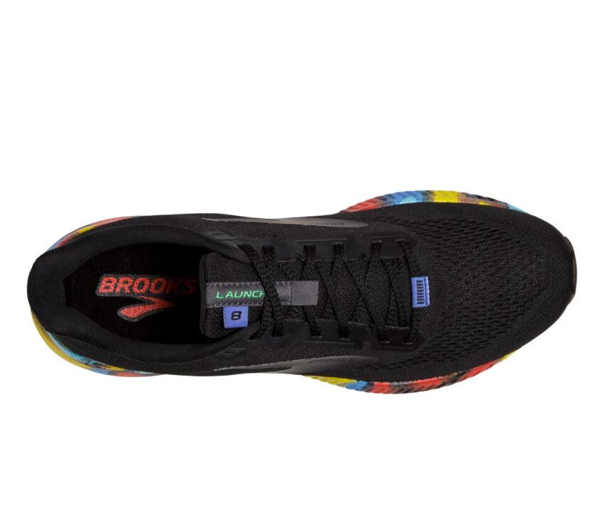 tomaia scarpa running uomo brooks launch 8 nera