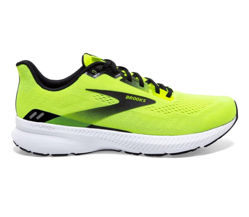 scarpa running uomo brooks launch 8 gialla