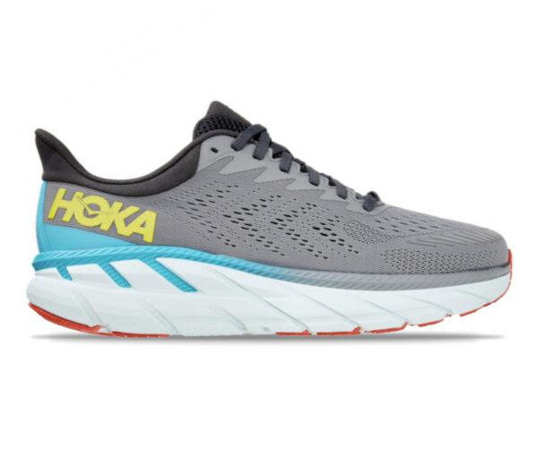 scarpa da running uomo a pianta larga hoka one one clifton 7