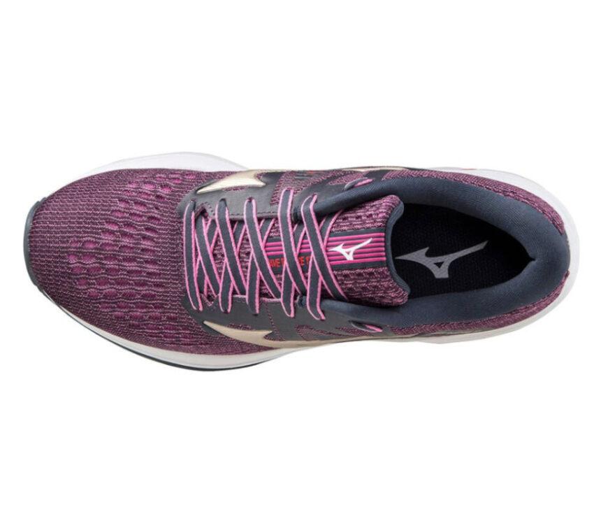 scarpa running donna mizuno wave inspire 17 viola vista dall'alto