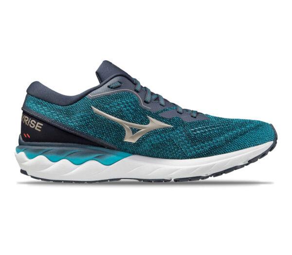 scarpa running mizuno wave skyrise 2 azzurra
