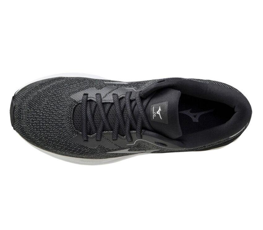 scarpa running uomo nera mizuno wave skyrise 2 vista dall'alto
