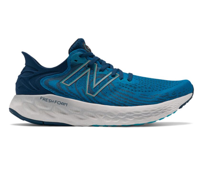 scarpa running uomo blu new balance 1080 v11 a pianta larga