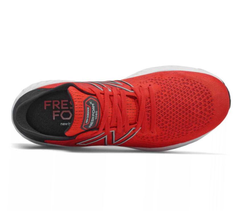 tomaia scarpa da running new balance 1080 10 rossa da uomo