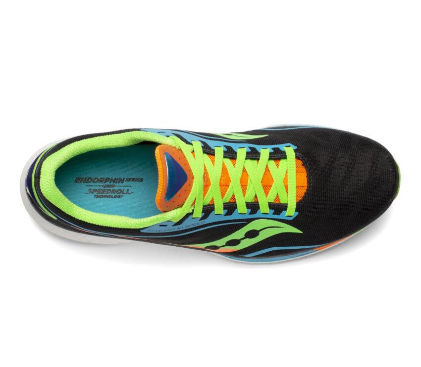 scarpa running veloce da uomo saucony endorphin speed vista da sopra