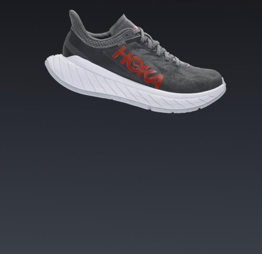 scarpa da running hoka in fibra di carbonio